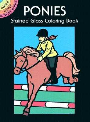 Ponies Stained Glass Coloring Book - Green, John