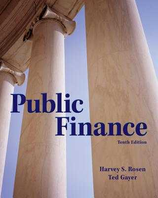 Public Finance - Rosen, Harvey, and Gayer, Ted
