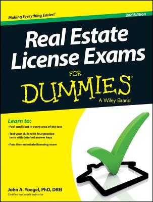 Real Estate License Exams for Dummies - Yoegel, John A
