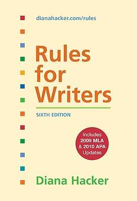 Rules for Writers - Hacker, Diana