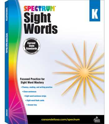 Spectrum Sight Words, Grade K - Spectrum (Compiled by)
