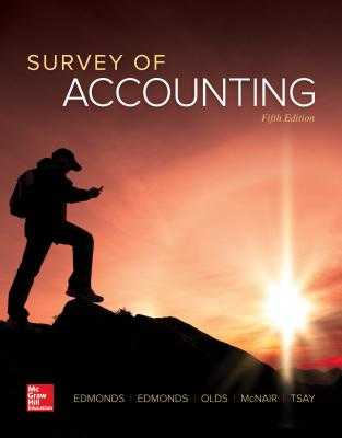 Survey of Accounting - Edmonds, Thomas P, and Edmonds, Christopher, and Olds, Philip R