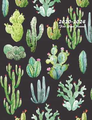 2020-2024 Five Year Planner: 60-Month Schedule Organizer 8.5 x 11 with Beautiful Cactus Cover - Planners, Edward