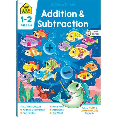 Addition & Subtraction 1-2 Deluxe Edition Workbook - School, Zone Staff (Editor)