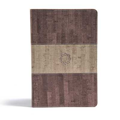 CSB Essential Teen Study Bible, Weathered Gray Cork Leathertouch - Csb Bibles by Holman