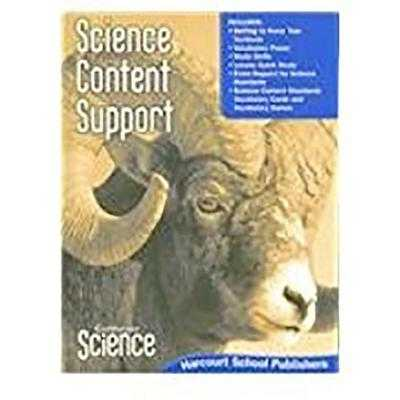 Harcourt School Publishers Science: Science Content Support Student Edition Science 08 Grade 5 - Harcourt School Publishers (Prepared for publication by)