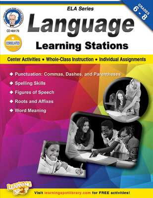 Language Learning Stations, Grades 6-8 - Cameron, Schyrlet, and Myers, Suzanne