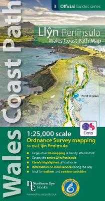 Llyn Peninsula Coast Path Map: 1:25,000 scale Ordnance Survey mapping for the Llyn Peninsula section of the Wales Coast Path -