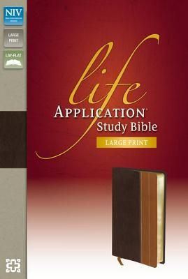 NIV, Life Application Study Bible, Second Edition, Large Print, Bonded Leather, Burgundy, Indexed - Zondervan