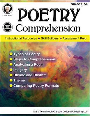 Poetry Comprehension, Grades 6 - 8 - Cameron, Schyrlet, and Myers, Suzanne