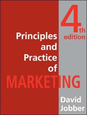 Principles and Practice of Marketing - Jobber, David