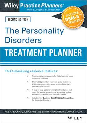 The Personality Disorders Treatment Planner: Includes DSM-5 Updates - Bockian, Neil R., and Smith, Julia C., and Jongsma, Arthur E., Jr.