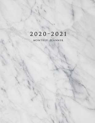 2020-2021 Monthly Planner: Large Two Year Planner with Marble Cover (Volume 1) - Planners, Miracle