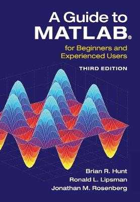 A Guide to Matlab(r): For Beginners and Experienced Users - Hunt, Brian R, and Lipsman, Ronald L, and Rosenberg, Jonathan M