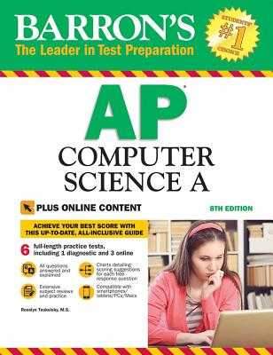 Barron's AP Computer Science a with Online Tests - Teukolsky, Roselyn