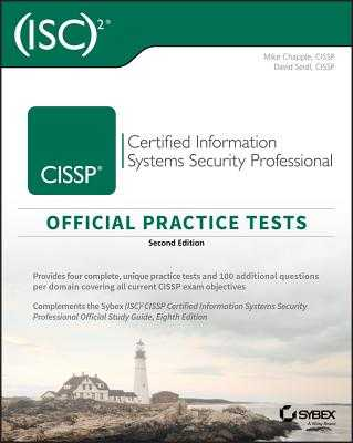 Cissp Official (Isc)2 Practice Tests - Chapple, Mike, and Seidl, David, Professor
