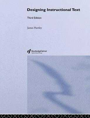Designing Instructional Text - Hartley, James