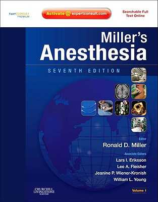 Miller's Anesthesia: Expert Consult Premium Edition - Enhanced Online Features and Print, 2-Volume Set - Miller, Ronald D, MD, MS, and Eriksson, Lars I, MD, PhD, and Fleisher, Lee A, MD, Facc