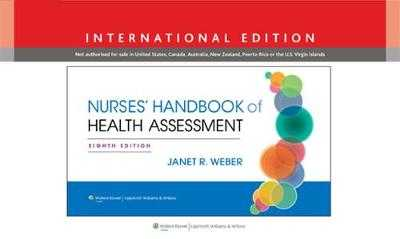 Nurses' Handbook of Health Assessment - Weber, Janet R., RN, MSN, EdD