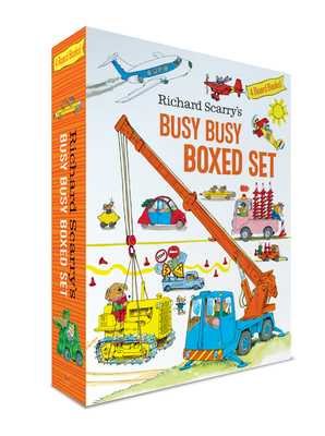 Richard Scarry's Busy Busy Boxed Set: Busy Busy Airport; Busy Busy Cars and Trucks; Busy Busy Construction Site; Busy Busy Farm - Scarry, Richard