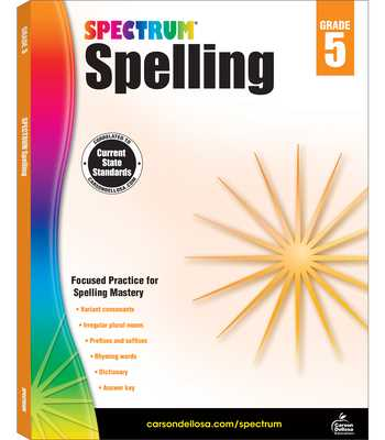 Spectrum Spelling, Grade 5 - Spectrum (Compiled by)