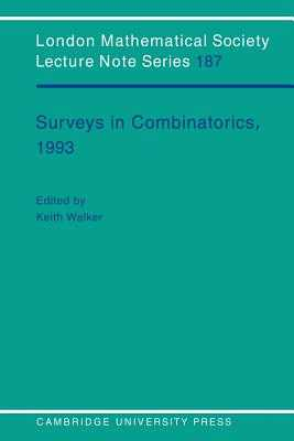 Surveys in Combinatorics, 1993 - Walker, K. (Editor)