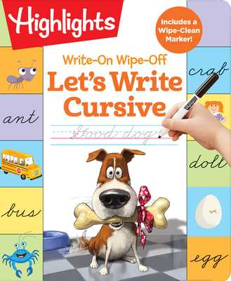 Write-On Wipe-Off Let's Write Cursive - Highlights Learning (Creator)